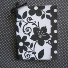 Handmade 5 pack floral black and white stationary with ribbon