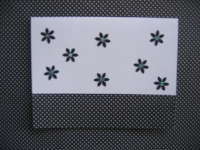 handmade card black and white with daisies