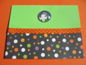 Halloween bubble shaker handmade card