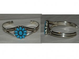 bracelet adorned with turquoise flower