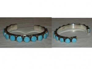 Bracelet with 15 natural turquoise stones