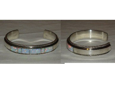Elegant silver bracelet adorned with OPAL