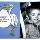 Baby Stork Throw (blue)