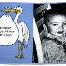 Baby Stork Throw (blue)