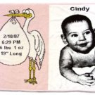 Baby Stork Throw (pink)