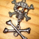 Huge Skull and Crossbone Killer Rhinestone Pendant