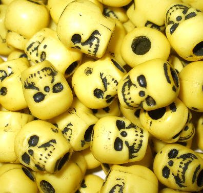 20 Sunny Side Up DAy oF thE DeAd Skull Beads LOLITA