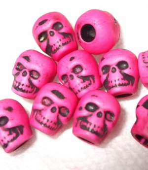 20 Shock You Pink LOliTa DAy oF thE DeAd sKuLL BeAdS Skulls