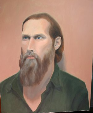Original Oil Painting Portrait of Man with Beard Art by LJT