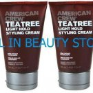 AMERICAN CREW TEA TREE LIGHT HOLD CREAM 4.2 OZ (X2)