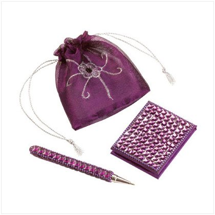 Beaded pen notepad  pouch set