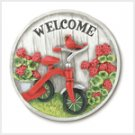 Tricycle Garden Stone Plaque