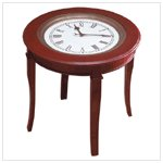 Table with Clock Top
