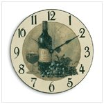 Wine And Grapes Wall Clock