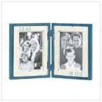 Blue Double Photo Frame