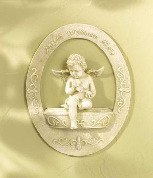 Cherub 'WELCOME' Plaque