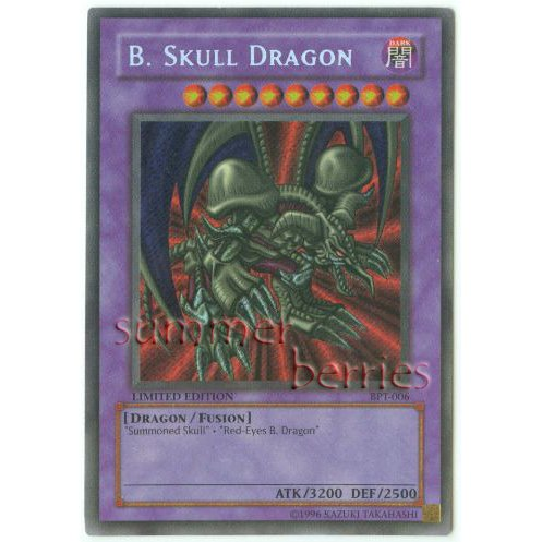 YuGiOh Card BPT-006 Limited Edition - B. Skull Dragon [Promo Secret Rare Holo]
