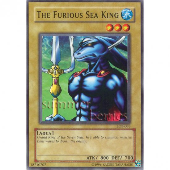 YuGiOh Card LOB-033 - The Furious Sea King [Common]
