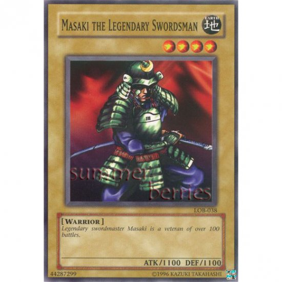 YuGiOh Card LOB-038 - Masaki the Legendary Swordsman [Common]