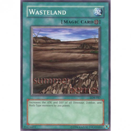 YuGiOh Card LOB-047 - Wasteland [Common]