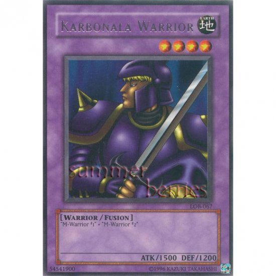 YuGiOh Card LOB-067 - Karbonala Warrior [Rare]