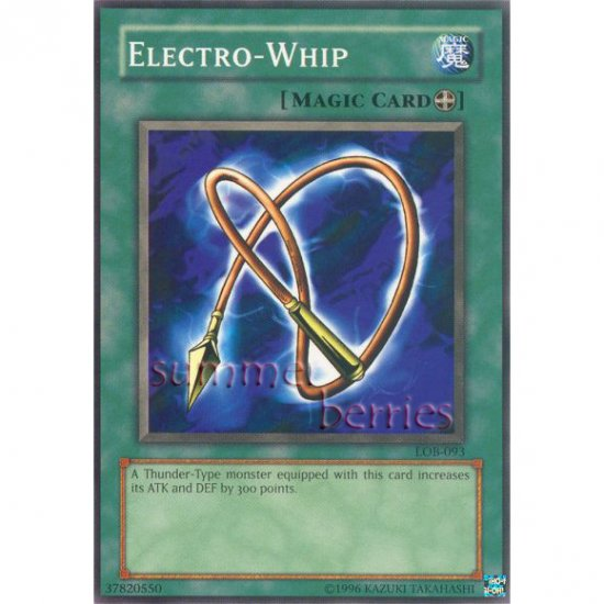 YuGiOh Card LOB-093 - Electro-Whip [Common]