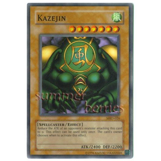 YuGiOh Card MRD-026 - Kazejin [Super Rare Holo]