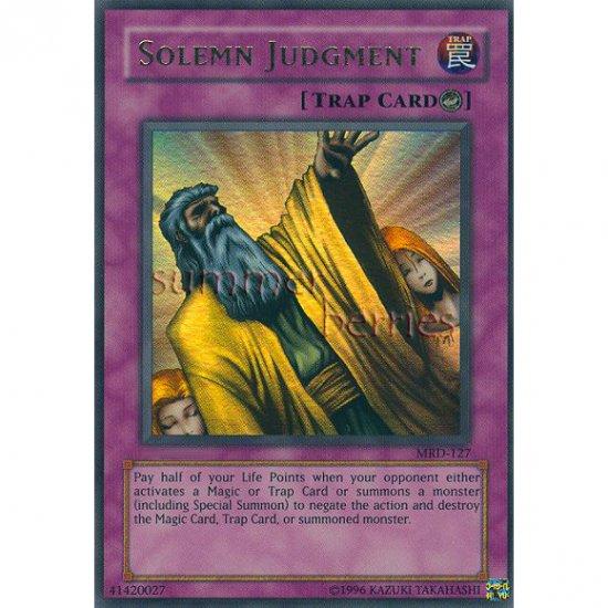 YuGiOh Card MRD-127 - Solemn Judgment [Ultra Rare Holo]