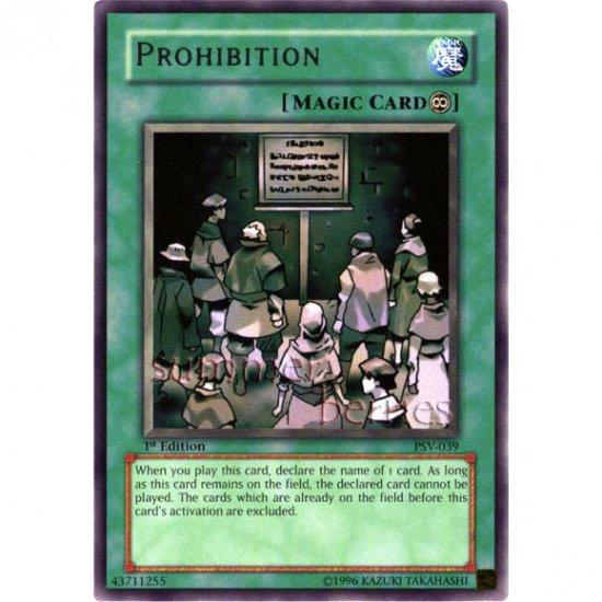 YuGiOh Card PSV-039 1st Edition - Prohibition [Rare]