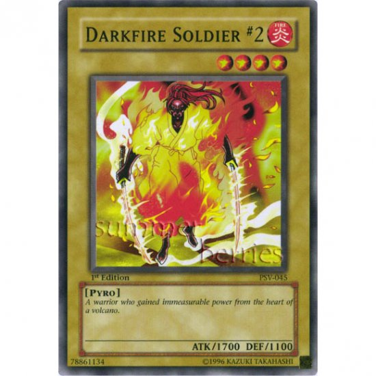 YuGiOh Card PSV-045 1st Edition - Darkfire Soldier #2 [Common]
