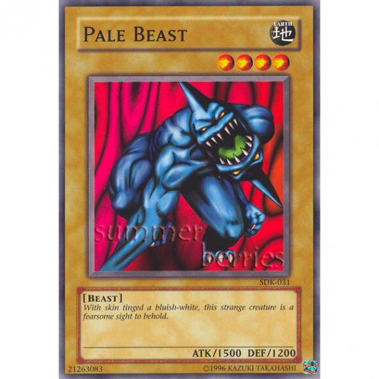 YuGiOh Card SDK-031 - Pale Beast [Common]