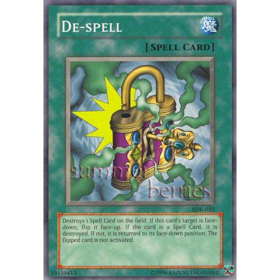 YuGiOh Card SDK-035 - De-Spell [Common]