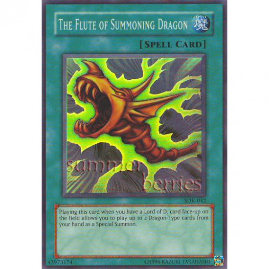 YuGiOh Card SDK-042 - The Flute of Summoning Dragon [Promo Super Rare Holo]