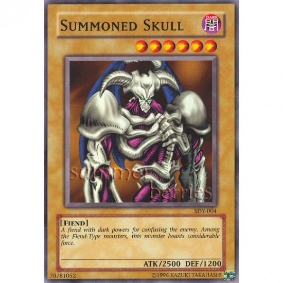 YuGiOh Card SDY-004 - Summoned Skull [Promo Common]