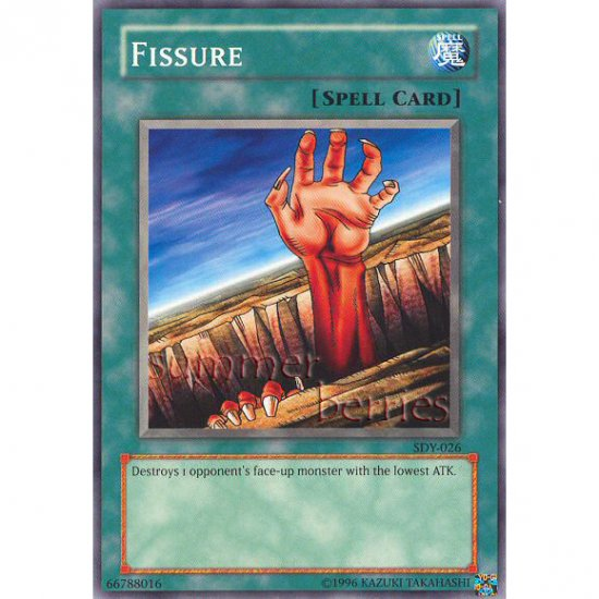 YuGiOh Card SDY-026 - Fissure [Promo Common]