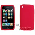 Red Silicone Skin Case for Apple iPhone 3G
