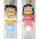 3D Asian / South Asian Bride & Groom Couple Cellphone Straps