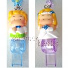 3D Caucasian Bride & Groom Couple Cellphone Straps