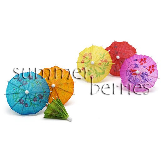 Mini Cocktail Parasol Drink Umbrella - Assorted Color (Set of 10)