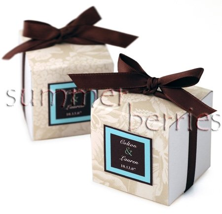White Square Favor Box / Boxes - 4x4x4 (Set of 10)