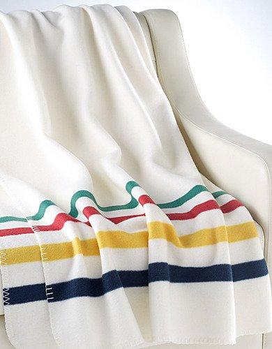 Hudson's Bay Company Multi-Stripe Fleece Throw Blanket