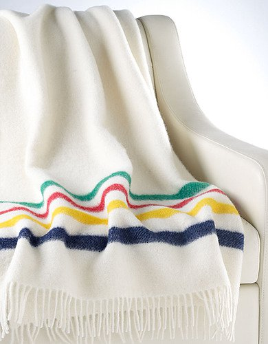 Hudson's Bay Company Multi-Stripe Caribou Throw Blanket