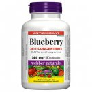 Webber Naturals Blueberry 500mg, 150 Capsules
