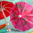 Mini Cocktail Parasol Drink Umbrella - Fuschia Purple (Set of 10)