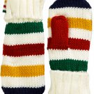 HBC Hudson's Bay Company Collection Knit Mittens - Multi-Coloured Stripe - Adults' S/M