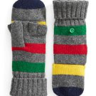 HBC Hudson's Bay Company Collection Silverlake Convertible Mittens - Charcoal Multistripe
