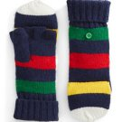 HBC Hudson's Bay Company Collection Silverlake Convertible Mittens - Navy Multistripe