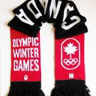 HBC Sochi 2014 Canadian Olympic Collection Adult Knit Scarf - Red Black
