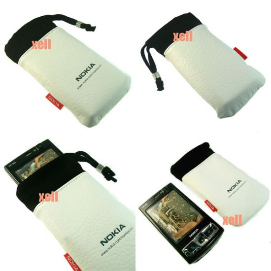G2 Nokia Bag Pouch Case for N95 8GB N82 N81 N73 5310 5610, White  **Free Shipping**