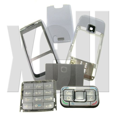 Premium Housing Cover Fascia for Nokia E65, White  **Free Shipping**